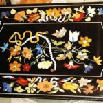Black Marble Inlay Tabletop