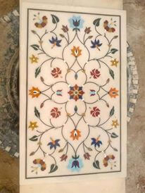 Marble inlaid table top pietra dura