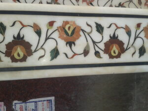flower pattern Marble inlay border