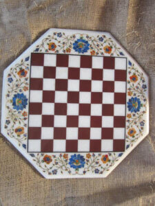 Luxurious marble inlaid chess game