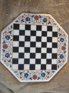 marble inlay chess game