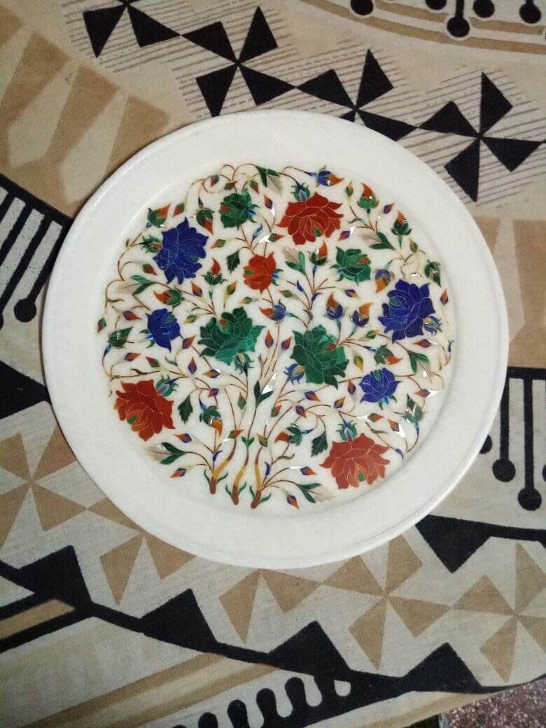 Marble Inlay Work Games & Plates