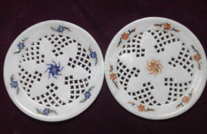12 inches net marble inlay plates