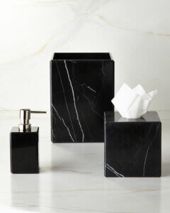 Z black marble bathroom kit
