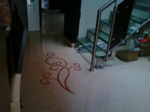 marble inlay flooring work
