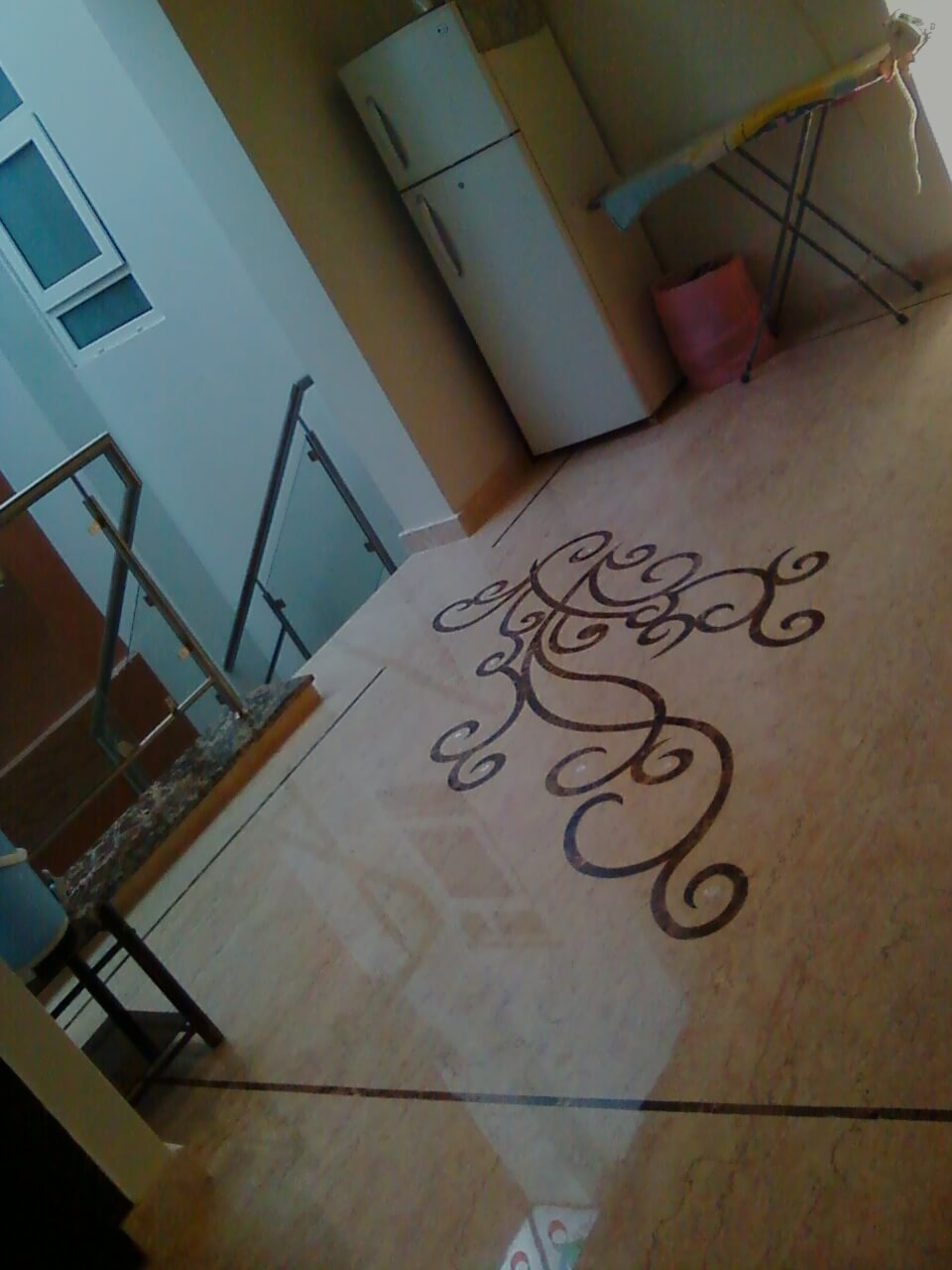 Marble inlaid flooring design