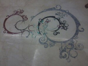 luxury marble inlay flooring design