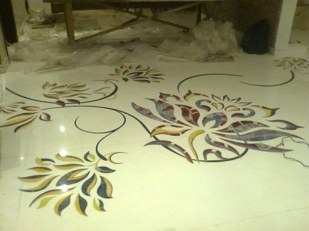 Marble flooring design and pattern