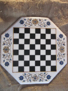 Inlay work marble chess board