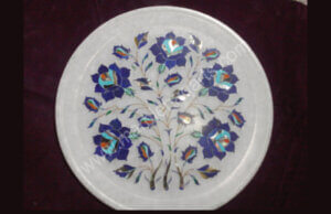 12 inches marble inlay plates