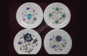 6 inches marble inlay plates