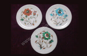 8 inches marble inlay plates