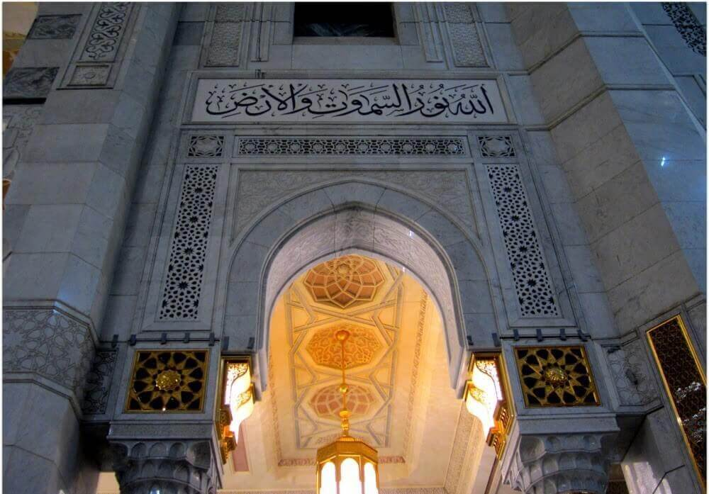 marble inlay work in mosque