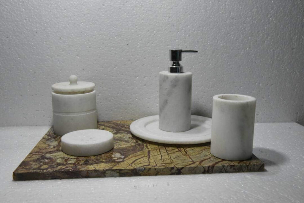 marble bathroom kit