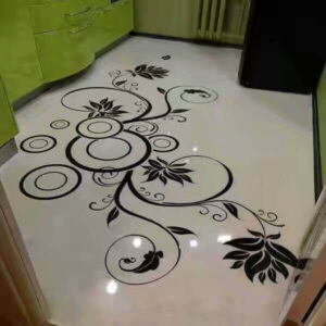 Marble Inlay Flooring Pattern for hall