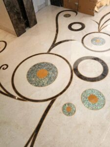 popular marble Inlay Flooring Pattern
