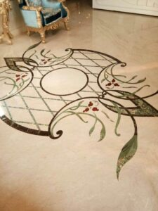 Excellent Marble Inlay Flooring Pattern