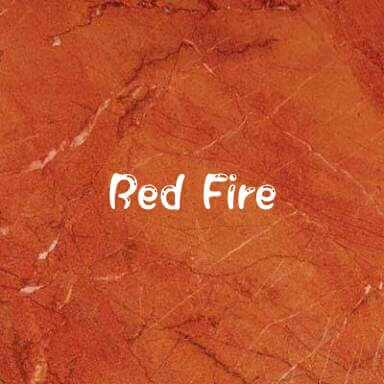 red fire marble stone