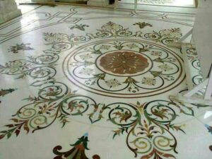 marble inlay flooring work in european style