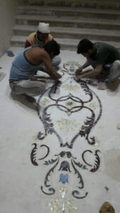 marble inlay flooring onsite work