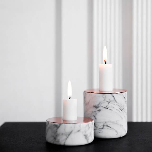 Statuario Marble Candle stand