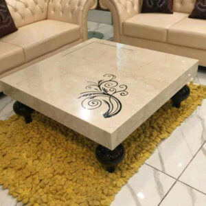 Beautifully Inlaid Marble Table top