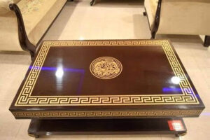 Inlaid wooden table top