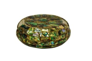 green-abalone-coaster-set